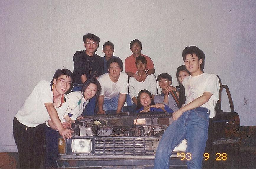 """1993 년 09월 28일 """"택시 택시"""" 공연 준비"""